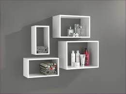 black floating shelves bold modern floating shelves grey colored