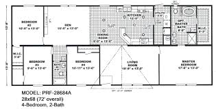 4 Bedroom Double Wide Double Wide Floorplans Mccants Mobile Homes