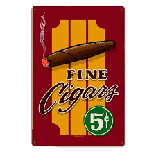Vintage Reproduction Home Decor by Fine Cigars Vintage Steel Sign Smoking Signs Retroplanet Com