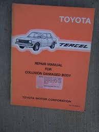 1983 toyota tercel a11 series auto repair manual collision body