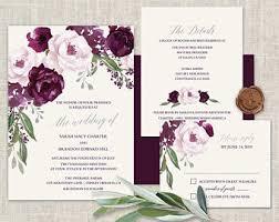 purple wedding invitations purple wedding etsy