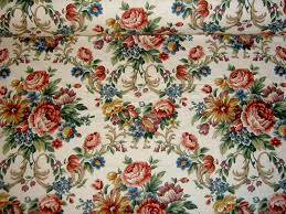 home decor fabric or by floral crewel home decor fabric closeup