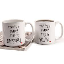 personalized 20 oz there s a chance large coffee mugs set of 2