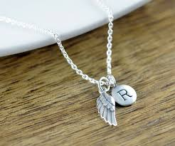personalized remembrance jewelry personalized silver wing necklace remembrance jewelry guardian