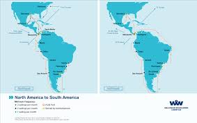 Map Of Central America And South America Overseas Shipping Route Maps L Wallenius Wilhelmsen Logistics