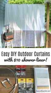 diy porch curtains made with 10 shower curtain liners