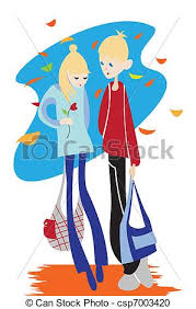 classmates search vector clipart of classmates boy and girl walking together