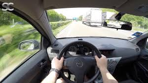 opel astra 2005 opel astra h caravan 1 3 cdti 2009 on german autobahn pov top