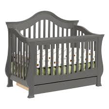 Toddler Rail For Convertible Crib Million Dollar Baby Ashbury 4 In 1 Sleigh Convertible Crib With
