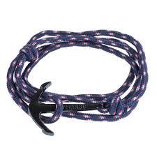 anchor wrap bracelet images Paracord wrap bracelet with black anchor clasp royal blue jpg