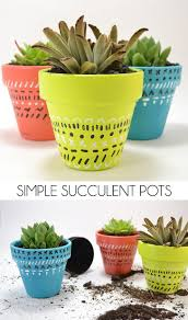 How To Make A Succulent Planter by Simple Succulent Pots Dream A Little Bigger