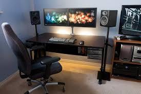 Gaming Setup Desk Gorgeous Gaming Setup Tv Computer Desk Gaming Amp Pc Set Ups