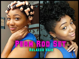 easy curling wand for permed hair perm rod set relaxed hair twist curl method bantu knots