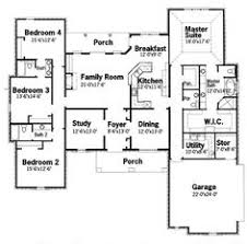5 Bedroom House Plan by One Story Five Bedroom Home Plans Home Plans Homepw72132 4 457