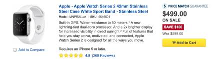 great deal get 100 off apple watch series 2 at best buy watchaware