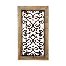 wood and metal wall decor