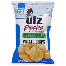 ripples chips utz potato chips reduced ripples original family size