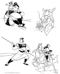 mulan coloring pages coloring pages kids disney coloring