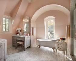 Shabby Chic Bathroom Ideas Colors Light Peach Walls Add Modern Feel To Shabby Chic Bathroom