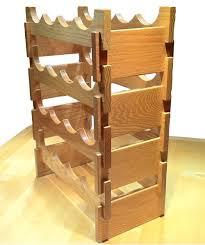wooden wine racks 5th wedding anniversary gift wood wine rack