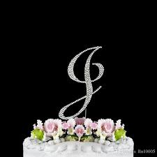 letter wedding cake toppers 2017 letter j silver rhinestone cake topper silver gold