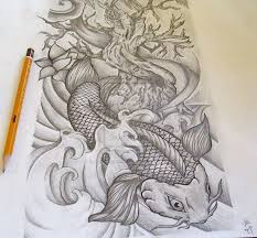 koi dragon tattoo design on half sleeve photo 3 photo