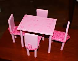 Barbie Dining Room Set Diy Barbie Dining Room Table U0026 Chairs This Was A First Try I U0027m