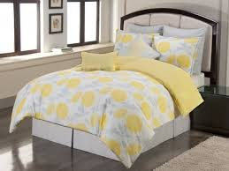 Yellow And Gray Decor by Bedroom Ideas Wonderful Round Mirror White Bedding Set Combined