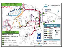 Mammoth Map Temp Weekend Overnight Parking Areas Available Mammoth Times