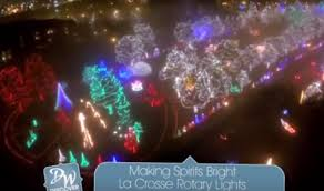 rotary lights la crosse la crosse rotary lights holiday display video explore la crosse