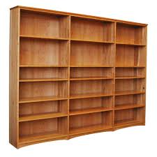Wood Bookcase With Doors Solid Wood Bookcases Furniture