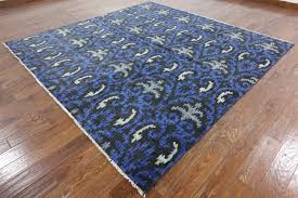 Modern Square Rugs by Modern 9 U0027 Square Ikat Hand Knotted Wool Rug W1098