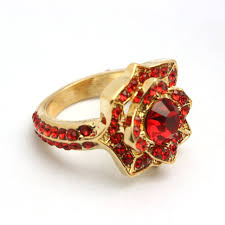Harry Potter Wedding Rings by Top Grade Luxury Harry Potter Hogwarts Gryffindor Red