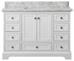 48 White Bathroom Vanity Audrey Bath Vanity Transitional Bathroom Vanities And Sink
