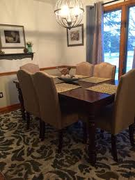 dining room behr ginger sugar paint color on bottom ultra white