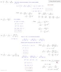 Simplifying Radicals Worksheet Algebra 1 Solving Rational Equations Worksheet