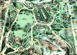 Map Central Park Central Park Map Shows New York City U0027s Central Park In The 1800 U0027s
