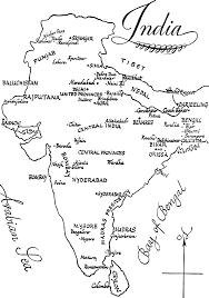 coloring page map of india kids drawing and coloring pages