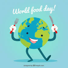 world food day background with earth globe vector free