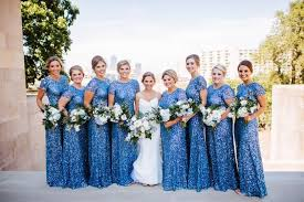 blue sequin bridesmaid dress in blues wedding at the brass on baltimore ultrapom
