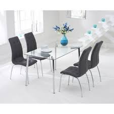 Glass Dining Room Table And Chairs Glass Dining Tables Wayfair Co Uk