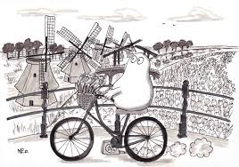 the daily sketch bikes windmills and other dutch clichés the
