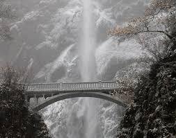 Oregon Waterfalls Map by Multnomah Falls Travel Portland