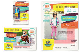 clothing store leaflet templates retail u0026 sales