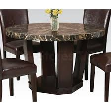 White Marble Dining Table Dining Room Furniture Acme Furniture Adolph Round Dining Table Dining Tables Af 70780 7