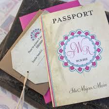 festive mexico passport wedding invitation isla mexico