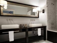 Beautiful Bathroom Mirrors HGTV - Bathroom mirrors for double vanity