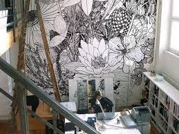 papier peint bureau inspiration déco du papier peint pour un bureau créatif cocon