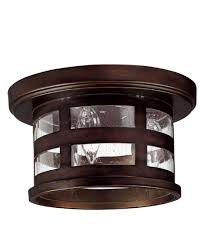 Outdoor Flush Mount Ceiling Light Capital Lighting 9956 Mission 11 Inch Wide 3 Light Outdoor