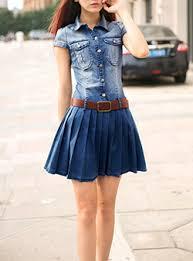 bleach denim dresses cheap fashion dress online store